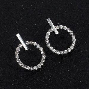 3/$30 Rhinestone Circle Earrings